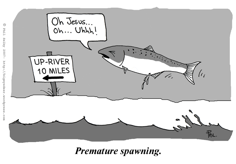 Funny salmon cartoon - photo#4
